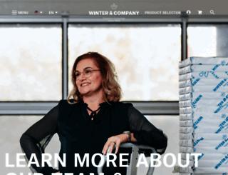 winter-company.com screenshot