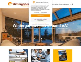 wintergarten-fachverband.de screenshot