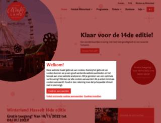 winterland.be screenshot