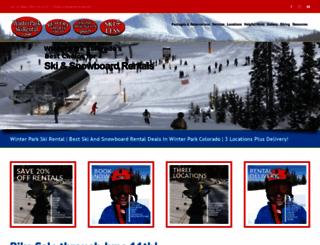 winterparkskirental.com screenshot