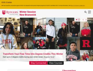wintersession.rutgers.edu screenshot