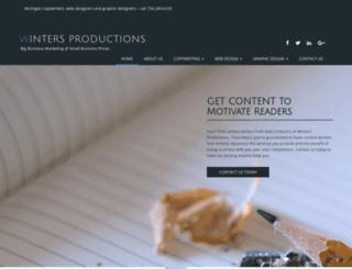 wintersproductions.com screenshot