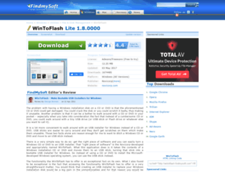 wintoflash.findmysoft.com screenshot
