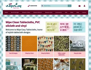 wipeeasytablecloths.com screenshot