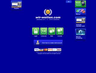 wir-wetten.com screenshot
