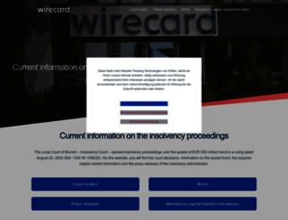 wirecard.com screenshot
