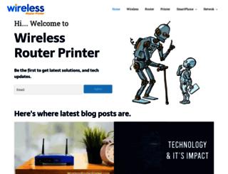 wirelessrouterprinter.com screenshot