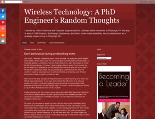 wirelesstechthoughts.blogspot.com.br screenshot