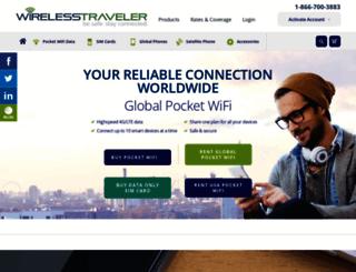 wirelesstraveler.com screenshot