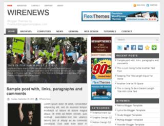 wirenews-demo.blogspot.com screenshot