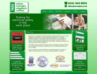 wirralpattesting.co.uk screenshot