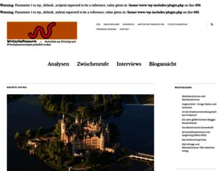 wirtschaftswurm.net screenshot