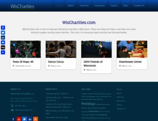 wischarities.com screenshot