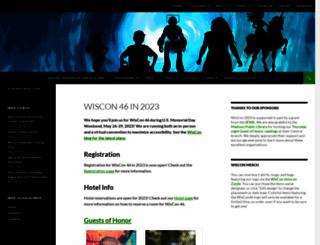 wiscon.info screenshot