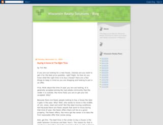 wisconsinrealtysolutions.blogspot.com screenshot