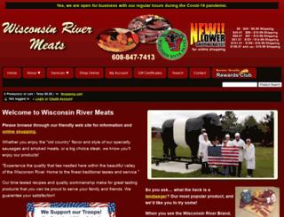 wisconsinrivermeats.com screenshot