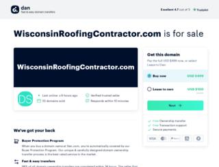 wisconsinroofingcontractor.com screenshot