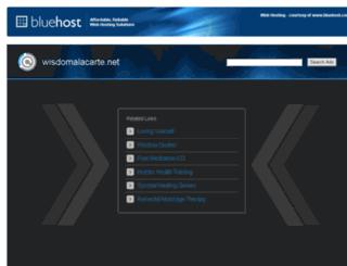 wisdomalacarte.net screenshot