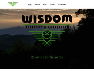 wisdomrecoverycounseling.com screenshot