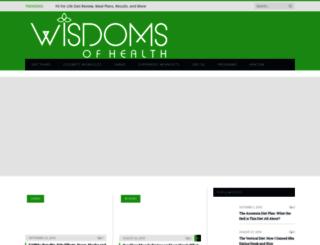 wisdomsofhealth.com screenshot