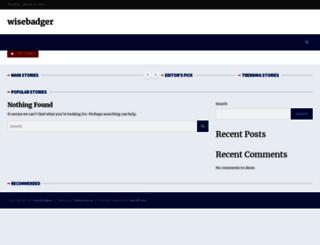 wisebadger.com screenshot