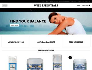 wiseessentials.com screenshot