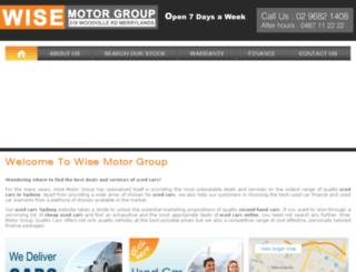 wisemotorgroup.com.au screenshot