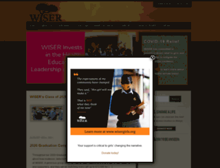 wisergirls.org screenshot