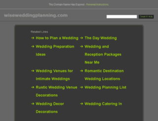 wiseweddingplanning.com screenshot