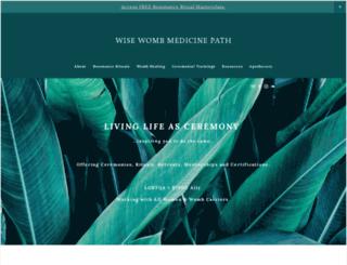 wisewombmedicinepath.com screenshot