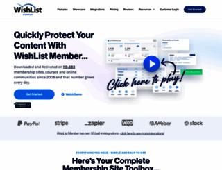 wishlistproducts.com screenshot