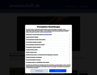 wissenschaft.de screenshot