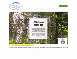 wisteriaguesthouse.com screenshot