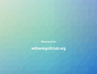witbankgolfclub.org screenshot