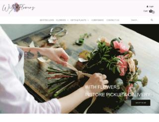 withflowers.com.au screenshot