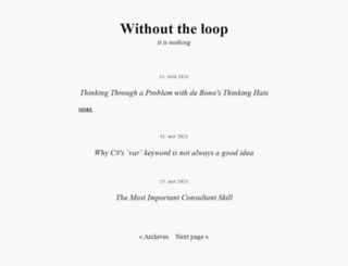 withouttheloop.com screenshot