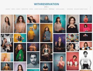 withreservation.photoshelter.com screenshot