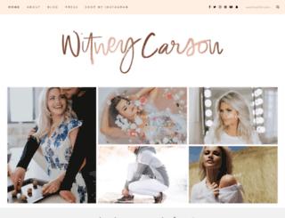 witneycarson.com screenshot