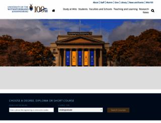 wits.ac.za screenshot