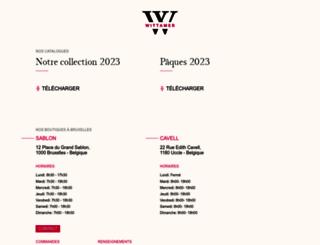 wittamer.com screenshot