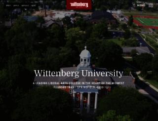 wittenberg.edu screenshot