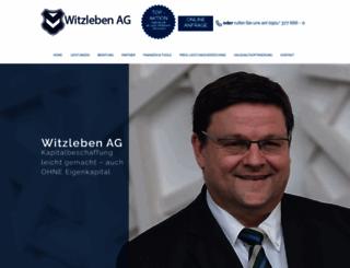 witzlebenag.de screenshot