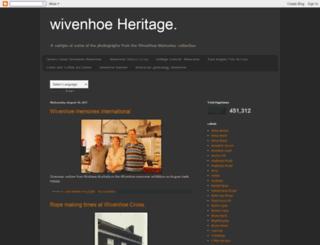 wivenhoeheritage.blogspot.de screenshot