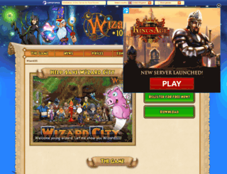 wizard101.web.tr screenshot