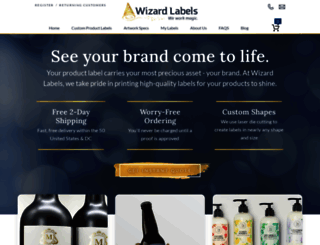 wizardlabels.com screenshot