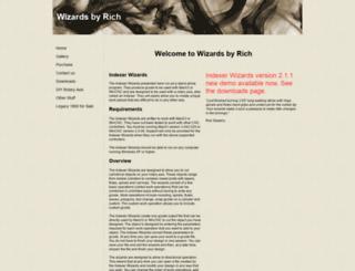 wizardsbyrich.yolasite.com screenshot