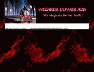 wizardspowerads.com screenshot