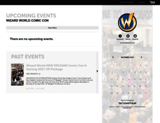 wizardworld.ticketleap.com screenshot