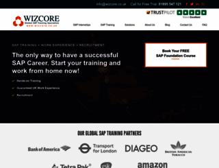 wizcore.co.uk screenshot