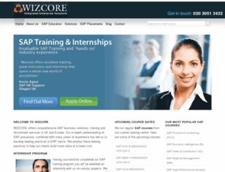 wizcore.com screenshot